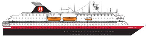 Hurtigruten Norwegen MS Nordkapp