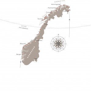Norwegische Fjorde Hurtigruten