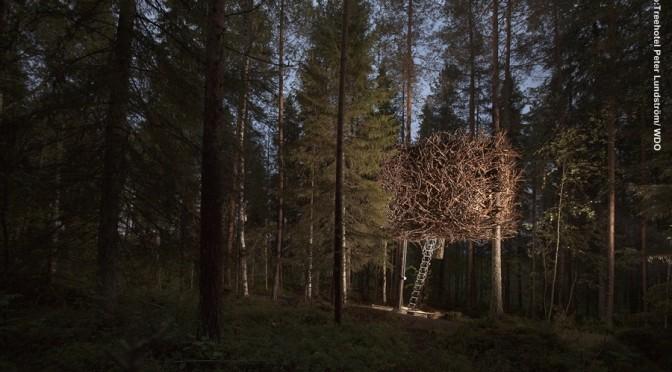 Schweden Baumhotel im Winter