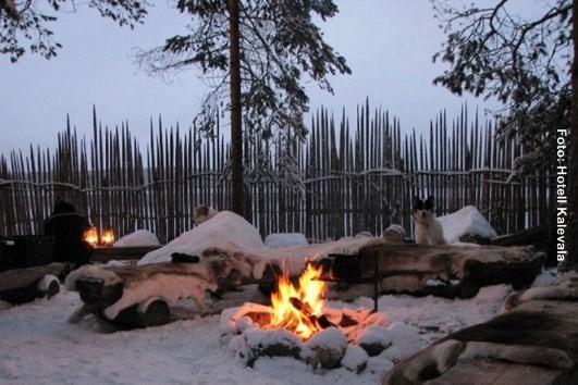 Finnland Winter Lagerfeuer
