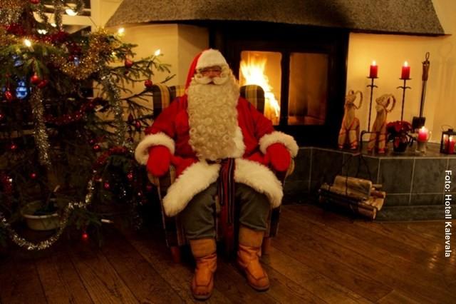 Weihnachtsmann Finnland Winter