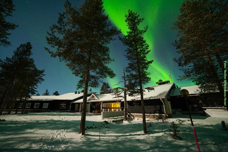 hotel muotka lappland lodge polarlichter reisen. Black Bedroom Furniture Sets. Home Design Ideas