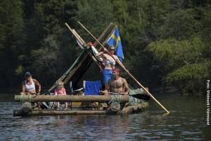 Floßfahrt Schweden