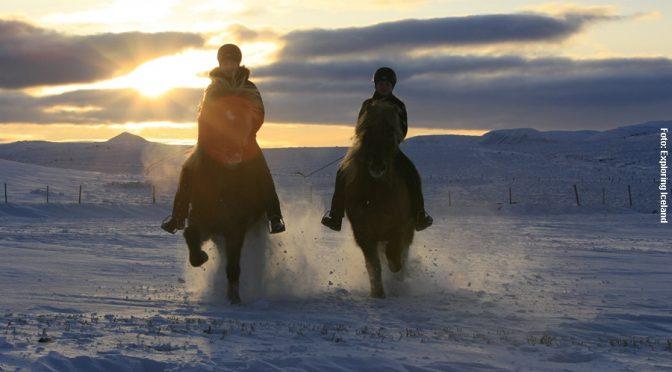Island Reiten auf Eis