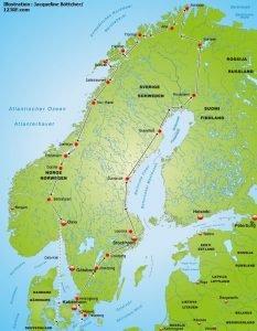 Skandinavienreise Mitternachtssonne