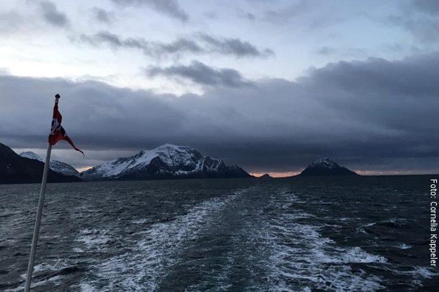 Postschiff im Winter