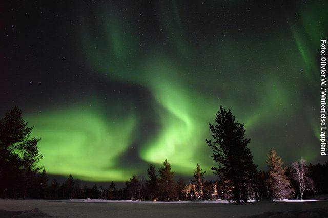 Winterreise Lappland Nordlichter