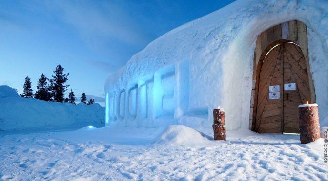 Schnee-Iglu Hotel Schweden