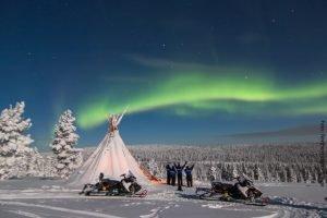Nordlichter Suche Lappland