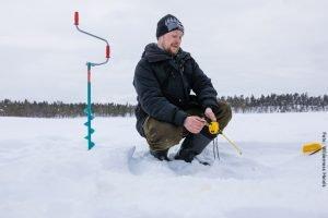 Eisangeln Lappland