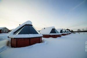 Nordlicht Hütten Finnland