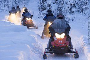 Schweden Winter Reisen - Schneemobil Safari