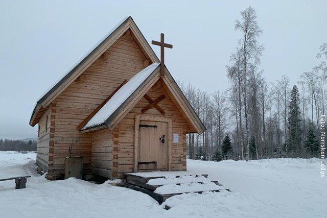 Winterreise Schwedens Norden - Särkilax-Kirche