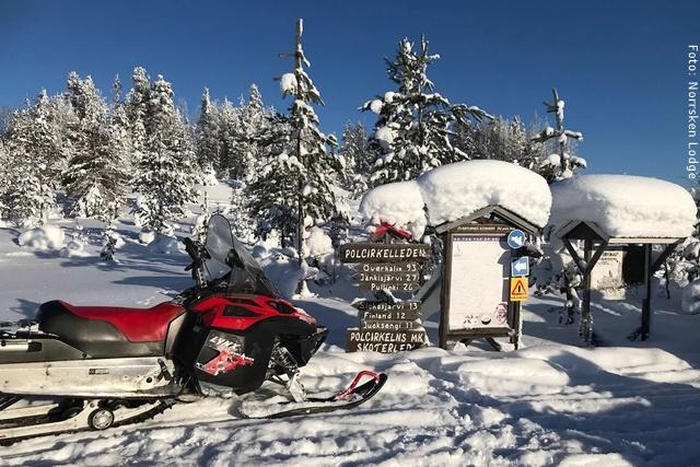 Winterreise Schwedens Norden - Schilder