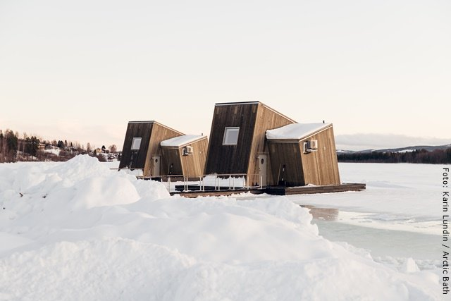 Arctic Bath Spahotel Lappland - Wasserhütten Außen