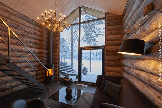 """Exklusive Blockhütten in Lappland - """"Sonne"""""""