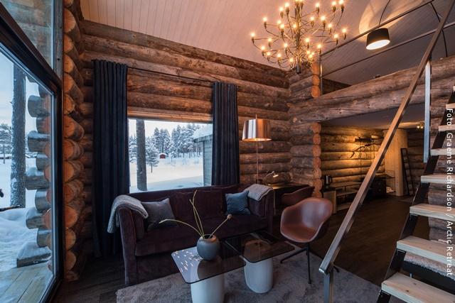 """Exklusive Blockhütten in Lappland - """"Wind"""""""