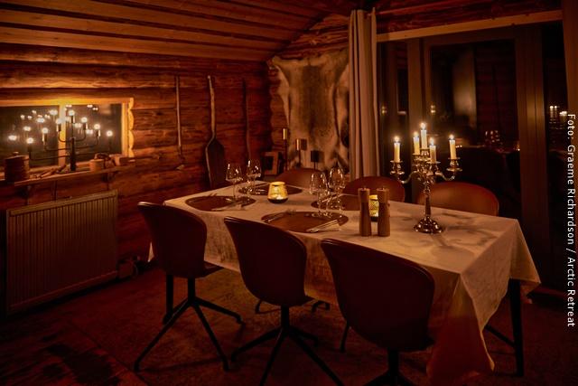 Exklusive Blockhütten Lappland - Restaurant