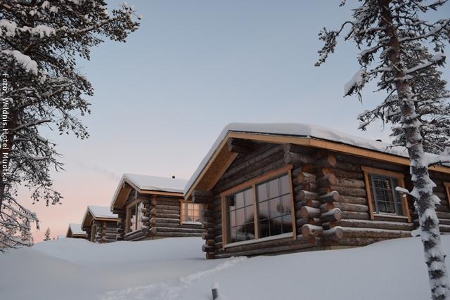 Muotka, Winterreise Lappland