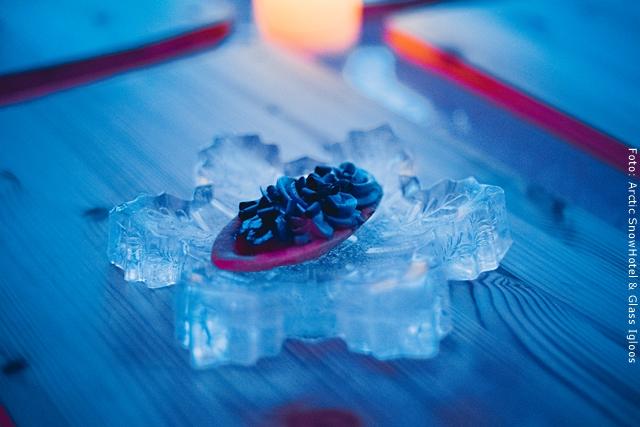 Schneehotel und Glasiglus Finnland