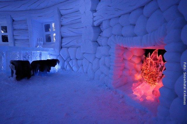 Schneehotel Norwegen - Eisrestaurant