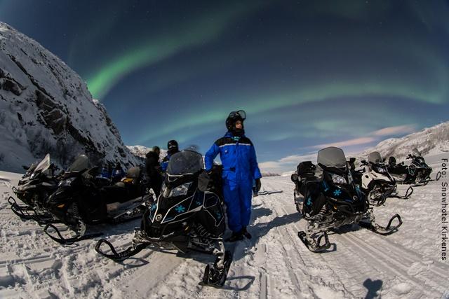 Schneehotel Norwegen - Schneemobil Safari