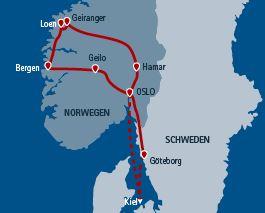 Südnorwegen mit Bus