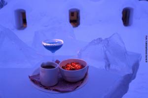 Glasiglus Finnland, Kakslauttanen, Eis