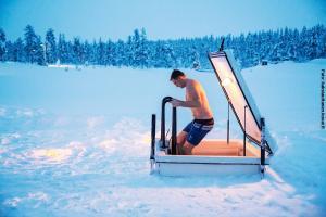 Glasiglus Finnland, , Kakslauttanen Eispool