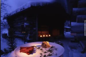 Glasiglus Finnland, Rauchsauna Restaurant Kakslauttanen