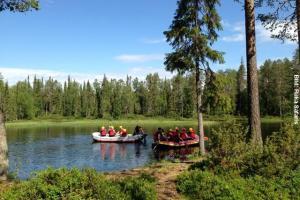 Finnland Schlauchboote