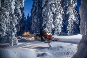 Schneemobilsafari Rovaniemi