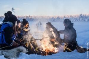 Lapplandreise Lagerfeuer