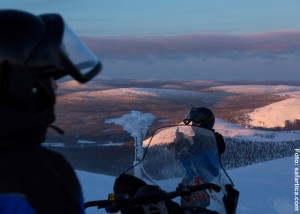 Schneemobil-Tour-Lappland