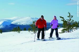 Schneeschuhwandern-in-Lappland