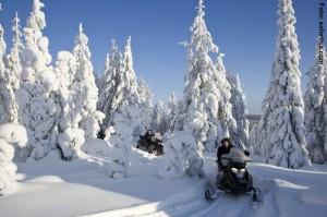 Snowmobiltour Finnland