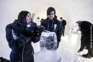 Eishotel-Schweden Eisskulpturen