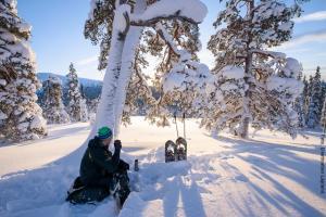 Lapland Huetten Schneeschuhwandern
