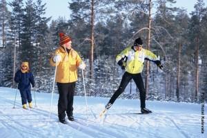 Finnland Winterreisen, Skilanglauf-Tour