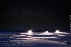 Schneemobil Karelien