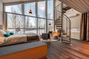Artic Bath Spahotel Lappland - Landhütte Innen