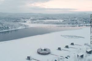 Artic Bath Spahotel Lappland - Aussicht auf Lule