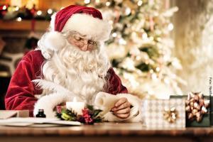 Besuch beim Weihnachtsmann
