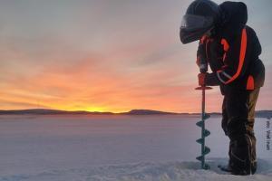 Winterreise Inari Eisangeln
