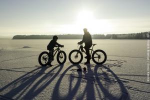 Exklusive Blockhütten in Lappland  - Fatbike