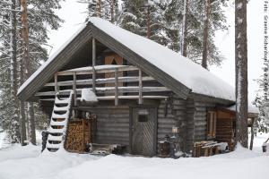 """Exklusive Blockhütten in Lappland - """"Holzfällerhütte"""""""