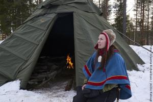 Exklusive Blockhütten in Lappland - Jokkmokk Sami