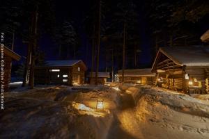 Arktis Oase bei Nacht