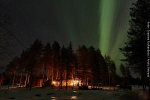 Nordlichter über Aktis Oase