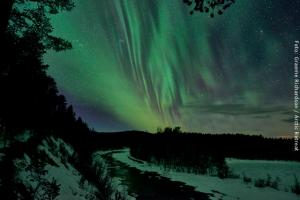 Exklusive Blockhütten in Lappland - Nordlichter am Rane